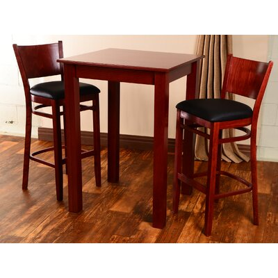 Irons 3 Piece Pub Table Set Finish: Mahogany