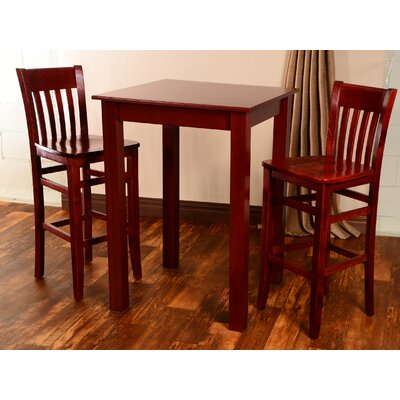 Vivas 3 Piece Pub Table Set Finish: Mahogany