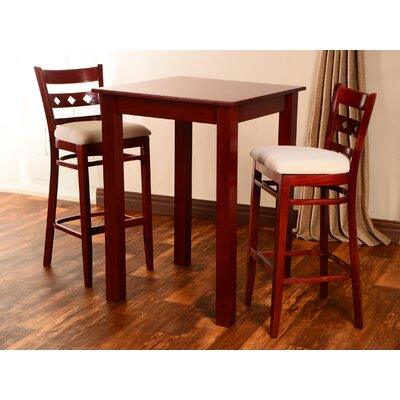 Yablonski 3 Piece Pub Table Set Finish: Mahogany