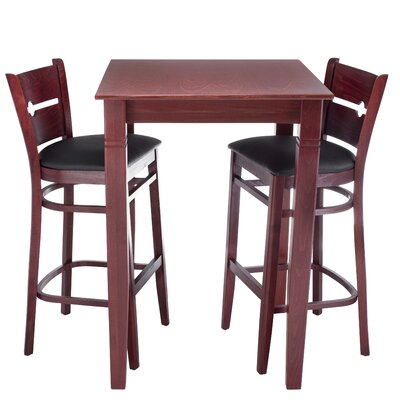 Gottesdiener 3 Piece Pub Table Set Finish: Mahogany
