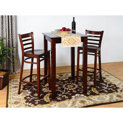 Ladderback 3 Piece Pub Table Set Finish: Medium Oak