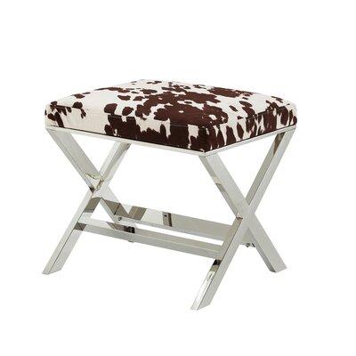 Lucki X-Leg Ottoman Upholstery: Brown