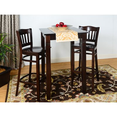 Eberhard 3 Piece Pub Table Set Finish: Walnut