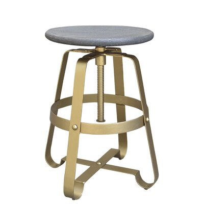 Siller Adjustable Height Swivel Bar Stool