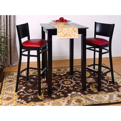 Irons 3 Piece Pub Table Set Finish: Black