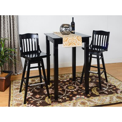 Swivel 3 Piece Pub Table Set Finish: Dark Mahogany