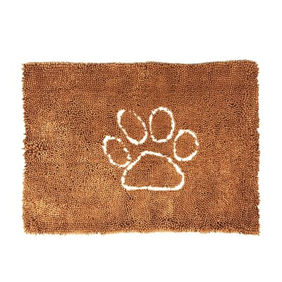Palmilla Wet Pet Ultra Absorbent Microfiber Dog Paw Doormat Color: Chestnut, Mat Size: Rectangle 3 x 6