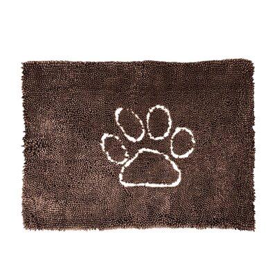 Palmilla Wet Pet Ultra Absorbent Microfiber Dog Paw Doormat Color: Brown, Mat Size: Rectangle 3 x 26