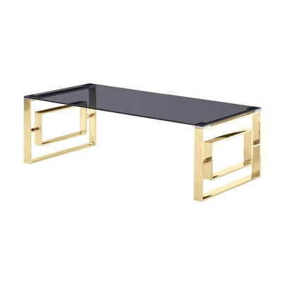 Naczi Coffee Table Table Base Color: Gold