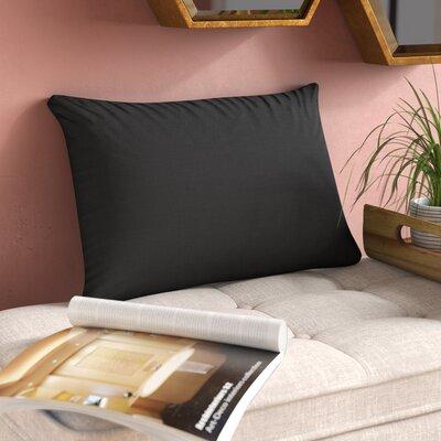 Florentine Indoor Printed Decorative Rectangular 100% Cotton Lumbar Pillow Color: Black