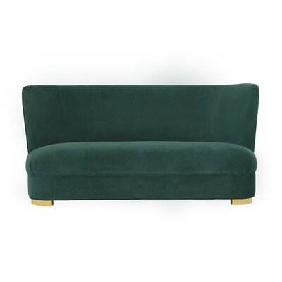 Holthaus Standard Sofa Upholstery: Forest Green