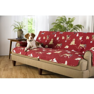 Dog Park Box Cushion Loveseat Slipcover