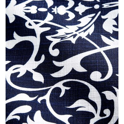 Shenandoah Tufted Outdoor Floor Pillow Color: Midnight Filigree