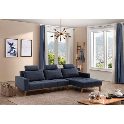 Deutsch Modern Sleeper Sectional Orientation: Right Hand Facing