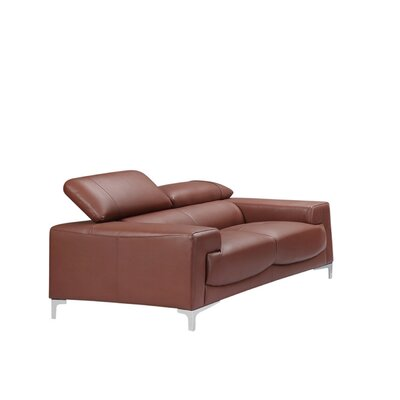 Tipton Modern Saddle Leather Loveseat