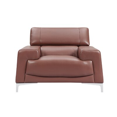 Tipton Modern Saddle Leather Armchair