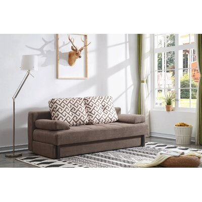 Tolna Contemporary Convertible Sleeper Upholstery: Dark Brown