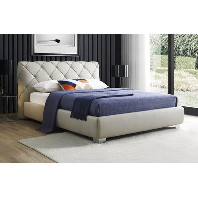Sepia Upholstered Storage Platform Bed Size: King