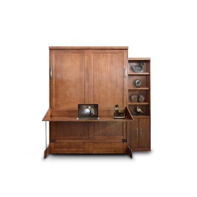 Delapaz Desk/Bookcase Queen Storage Murphy Bed