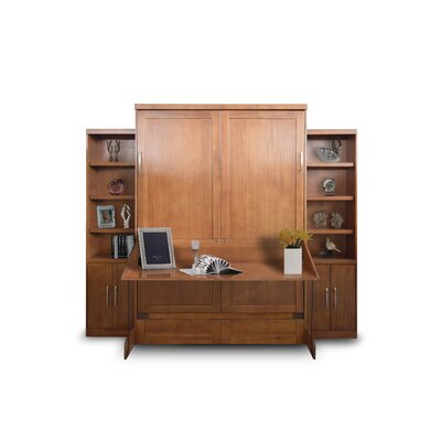Delapaz Desk/Bookcase Queen Storage Murphy Bed