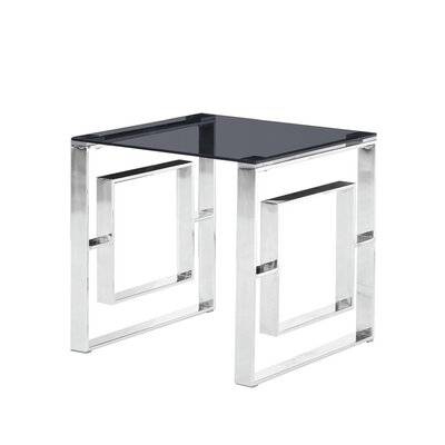 Duraisamy End Table Table Base Color: Silver