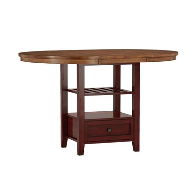 Mariotti Counter Height Extendable Dining Table Base Color: Antique Berry