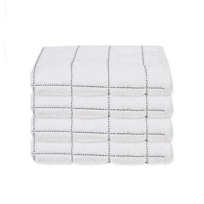 Elkin Check Hand Towel Color: White