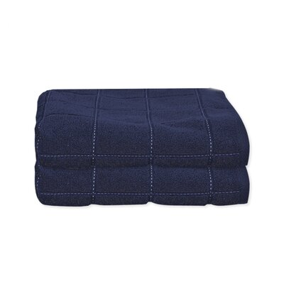 Elkin Check Bath Towel Color: Blue