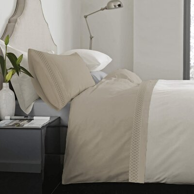 Feagin Laser Cut Hem Microfiber Sheet Set Color: Taupe, Size: Full