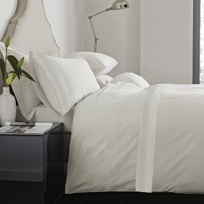 Feagin Laser Cut Hem Microfiber Sheet Set Color: Ivory, Size: King