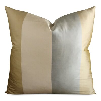 Jarrett Wide Stripe Luxury Decorative Silk Pillow Cover