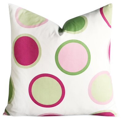 East Broadway Large Polka Dot Decorative Pillow Cover