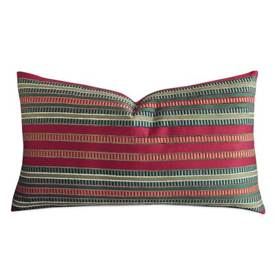 Tarrance Striped Luxury Woven Decorative Pillow Cover