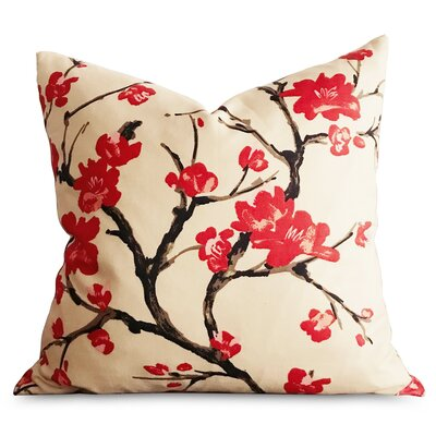Beazley Sakura Asian Japanese Floral Decorative Pillow Cover
