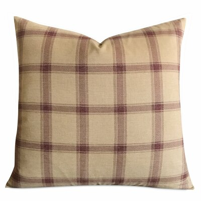 Tardif Large English Country Plaid Luxury Woven Decorative Pillow Cover