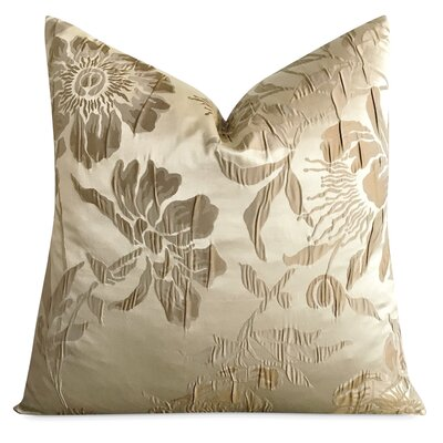 Jantz Floral Textured Luxury Woven Decorative Silk Pillow Cover