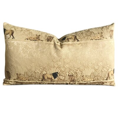 Bearup Lion Safari Luxury Woven Decorative Pillow Cover