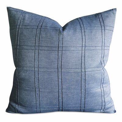 Halleck Denim Box Pintuck Luxury Decorative Pillow Cover