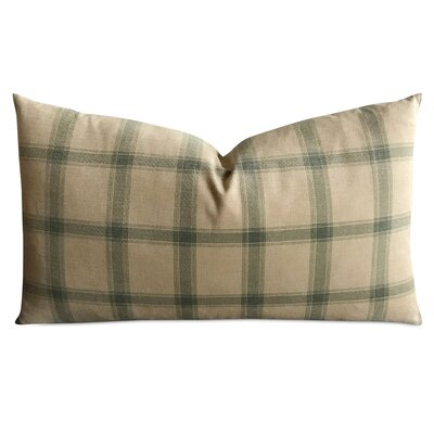 Tarnowski British Country Moss Plaid Luxury Woven Decorative Pillow Cover