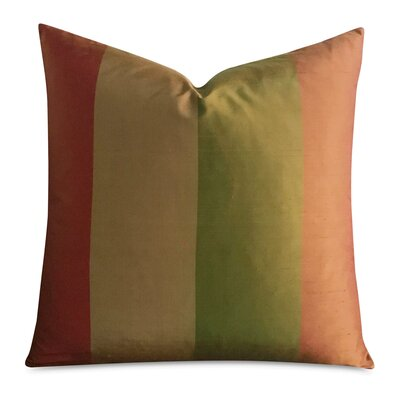 Beckworth Striped Luxury Decorative Silk Pillow Cover