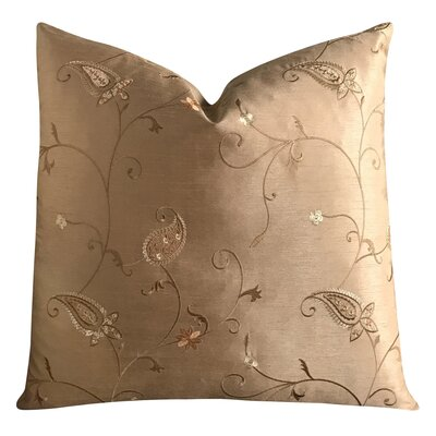 Chabot Floral Embroidered Luxury Decorative Silk Pillow Cover