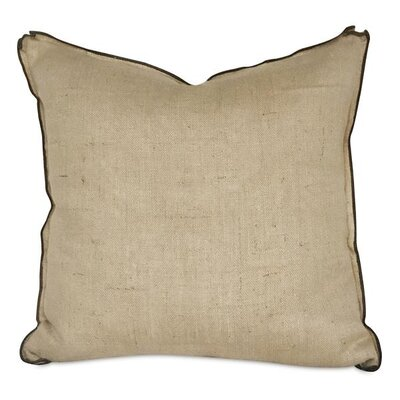 Haines French Country Wheat Burlap Decorative Pillow Cover