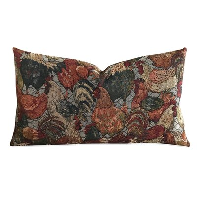 Heinen Vintage Tapestry Rooster Luxury Woven Decorative Pillow Cover