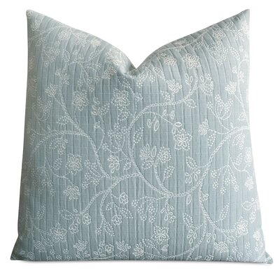 Hannigan Floral Quilted Cottage Luxury Woven Decorative Pillow Cover