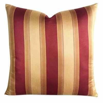 Chacra Garnet Wide Stripe Luxury Woven Decorative Silk Pillow Cover