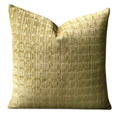 Crofts Pintuck Luxury Woven Decorative Velvet Pillow Cover