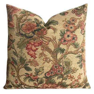 Ruckman Woven Tapestry Floral Art Deco Luxury Woven Decorative Pillow Cover