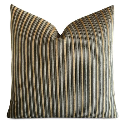 Jefcoat Striped Luxury Textured Decorative Velvet Pillow Cover