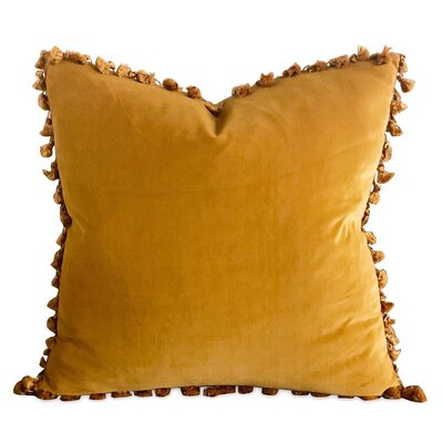 Beckham Velvet Pillow Cover Color: Gold