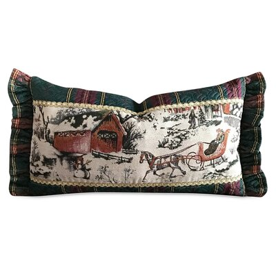 Faulkner Vintage Christmas Sleigh Luxury Decorative Pillow Cover